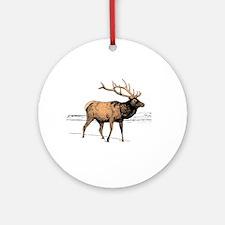 Canadian Elk Round Ornament