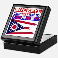 buckeyeromneyflag Keepsake Box