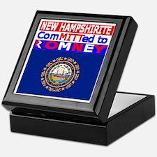 newhampshire2romneyflag Keepsake Box