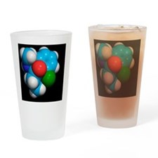 Ketamine molecule, recreational dru Drinking Glass