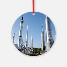 Kennedy Space Center Rocket Garden Round Ornament