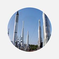 "Kennedy Space Center Rocket Garden 3.5"" Button"