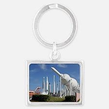 Kennedy Space Center Rocket Gar Landscape Keychain