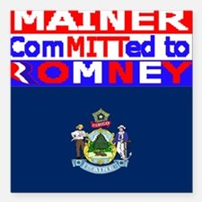 "maineromneyflag Square Car Magnet 3"" x 3"""