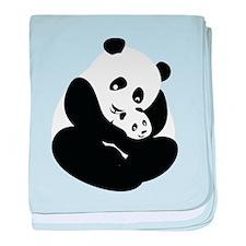 Panda Cuddles baby blanket