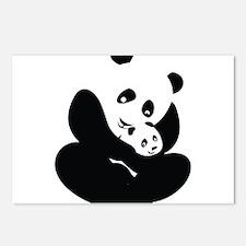 Panda Cuddles Postcards (Package of 8)