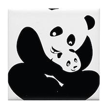 Panda Cuddles Tile Coaster