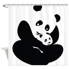 Panda Cuddles Shower Curtain