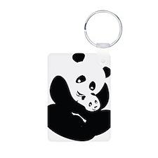 Panda Cuddles Keychains