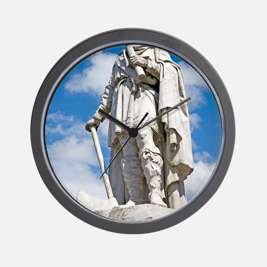 King Alfred the Great of England Wall Clock