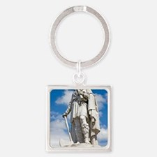 King Alfred the Great of England Square Keychain