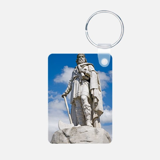 King Alfred the Great of E Aluminum Photo Keychain