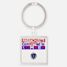 massachussettsromneyflag Square Keychain