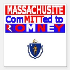 "massachussettsromneyflag Square Car Magnet 3"" x 3"""