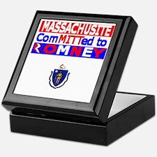 massachussettsromneyflag Keepsake Box
