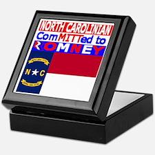 northcarolinaromneyflag Keepsake Box