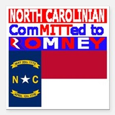 "northcarolinaromneyflag Square Car Magnet 3"" x 3"""