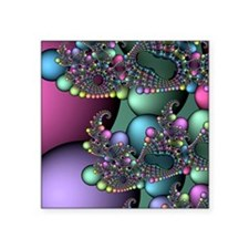 "Julia fractal Square Sticker 3"" x 3"""