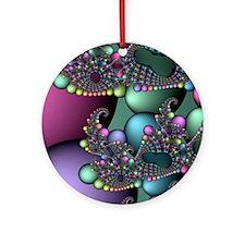 Julia fractal Round Ornament