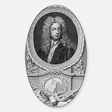Joseph Addison, English essayist Sticker (Oval)