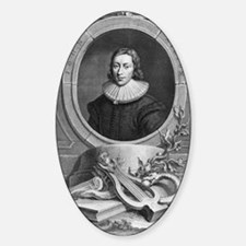 John Milton, English poet Sticker (Oval)