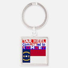 tarheelromneyflag Square Keychain