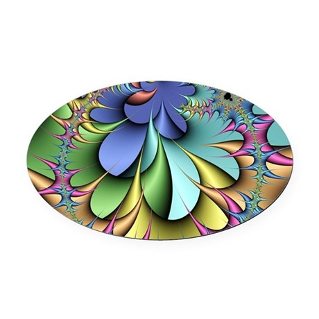 Julia fractal Oval Car Magnet