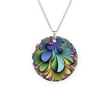 Julia fractal Necklace Circle Charm