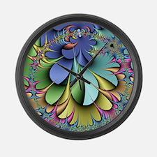 Julia fractal Large Wall Clock