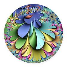 Julia fractal Round Car Magnet