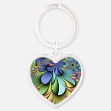 Julia fractal Heart Keychain
