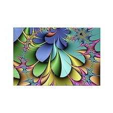Julia fractal Rectangle Magnet