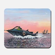 Jules Verne's Nautilus submarine, artwor Mousepad