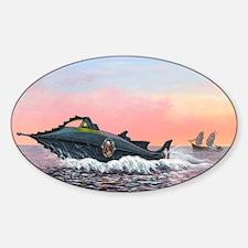 Jules Verne's Nautilus submarine, a Sticker (Oval)