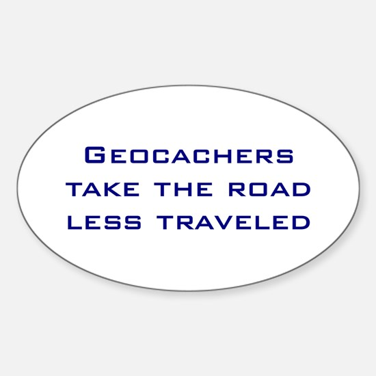 Geocachers Take the Road Oval Decal