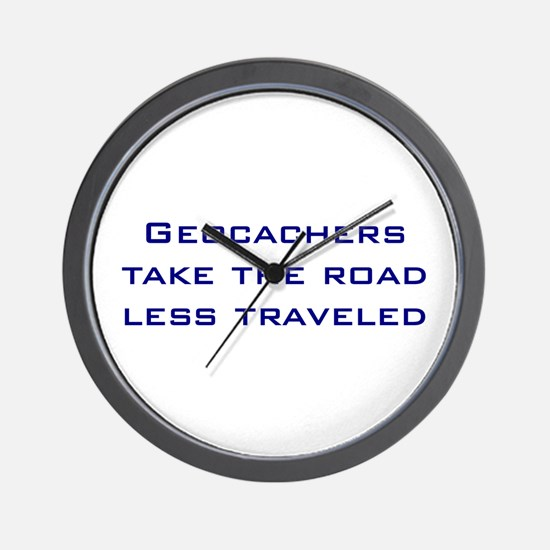 Geocachers Take the Road Wall Clock