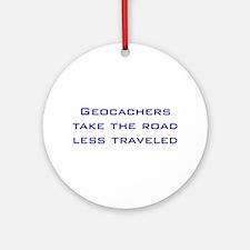 Geocachers Take the Road Ornament (Round)