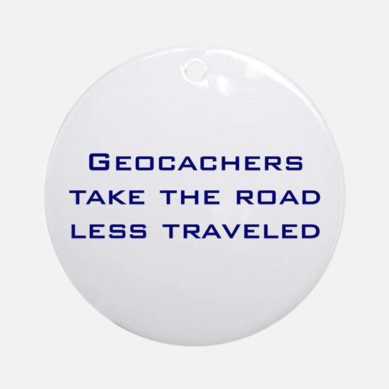Geocachers Take the Road Ornament (Round)