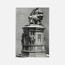 Johannes Kepler monument, artwork Rectangle Magnet