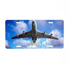 Jet flight, composite image Aluminum License Plate