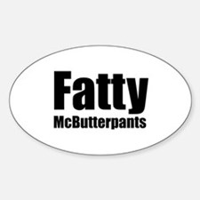Fatty McButterpants Oval Decal