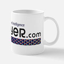 LatinFlyer.com white logo Mug