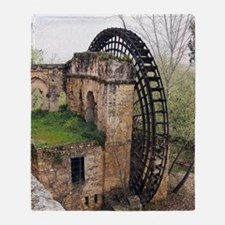 Islamic waterwheel, Cordoba, Spain Throw Blanket