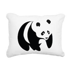 Panda-2 Rectangular Canvas Pillow