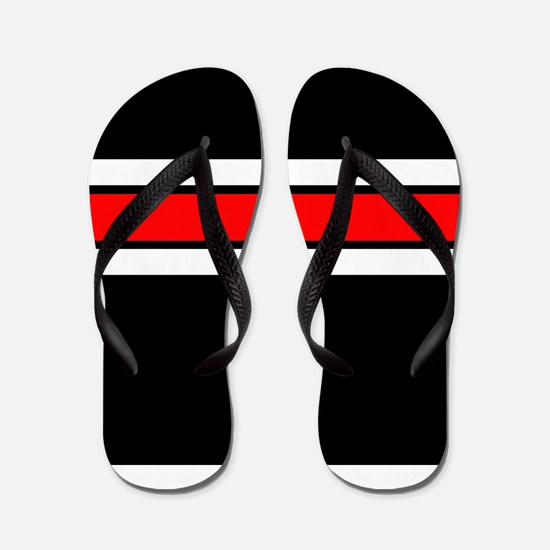 Team Colors 2...red,white and black Flip Flops