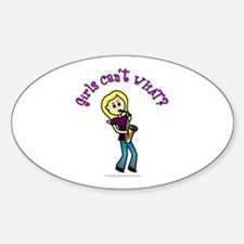 Blonde Saxophone Player Oval Decal