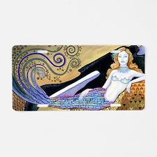 Mermaid Aluminum License Plate