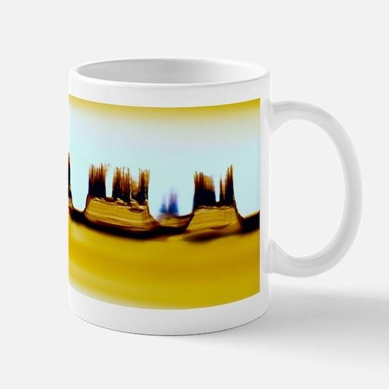 Iron oxide precipitation in agate Mug