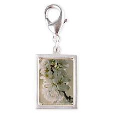 Japanese plum (Prunus salici Silver Portrait Charm