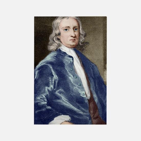 Issac Newton, English physicist Rectangle Magnet